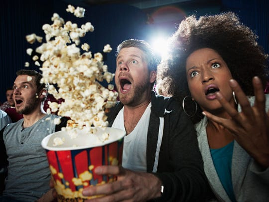 Audience at a scary movie