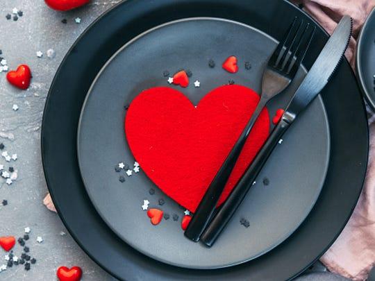 Valentine's Day or romantic dinner.
