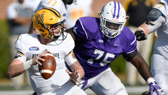 Furman's Jaylan Reid (75)  says the Paladins enter 2018 far ahead of where they were a year ago.
