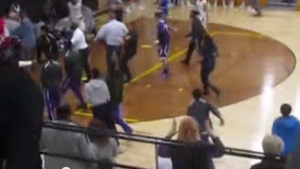 The Indiana High School Athletic Association delivered a severe punishment on Tuesday, ending the seasons of the Hammond and Griffith boys basketball teams after a fight during the first quarter of a game on Saturday.
