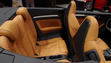 The stylish two-tone leather interior of  the  new Audi A3 Cabriolet.