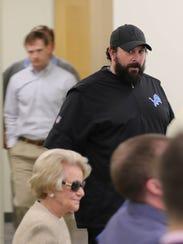 Detroit Lions head coach Matt Patricia arrives at a