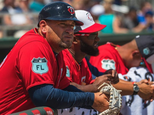 Ricardo Rolon / The News-Press Jeff Smith, a Naples High School graduate, is in his first season as a major league first base coach with the Minnesota Twins. Jeff Smith, a Naples High School graduate, is in his first season as a major league first base coach with the Minnesota Twins.