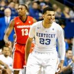 Kentucky's Jamal Murray celebrates after knocking down a three.  Feb. 9, 2016