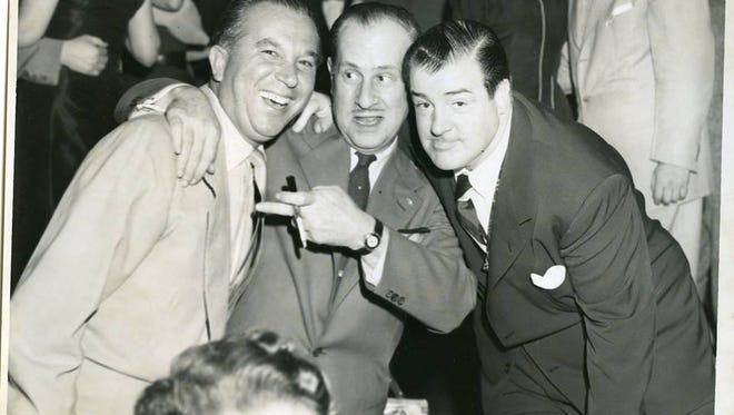 Bud Abbott and Lou Costello at Bill Miller's Riviera in Fort Lee in the early 1950s.