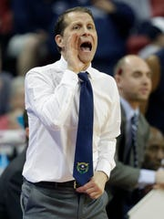 Nevada coach Eric Musselman sported a Battle Born tie for the game.