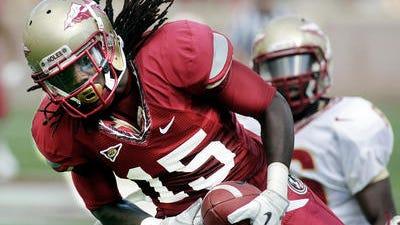 Former Florida State University wide receiver Greg Dent.