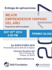 Participantes del Foro Expo 2016 de Das Foundation pueden aplicar para recibir un premio de 5 mil dólares para su negocio.