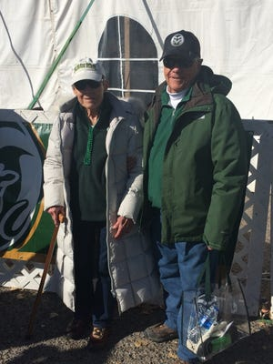 Marilyn, left, and Bob Clark outside the New Mexico Bowl.