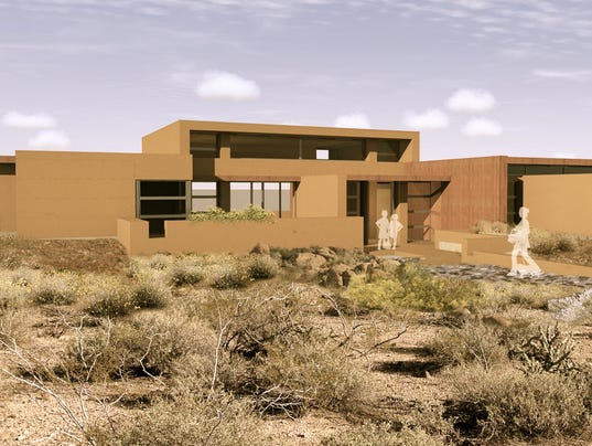 Frank Lloyd Wright Influences frank lloyd wright-inspired homes going up in cave creek