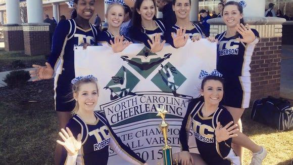 The Roberson cheerleading team.