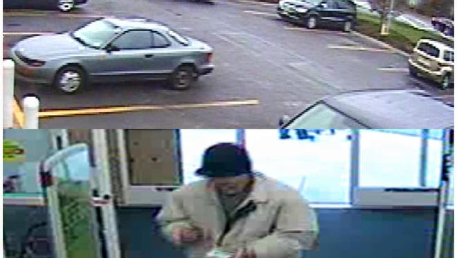 Ocean Township police posted this photo of a suspected shoplifter and the car he rode in.