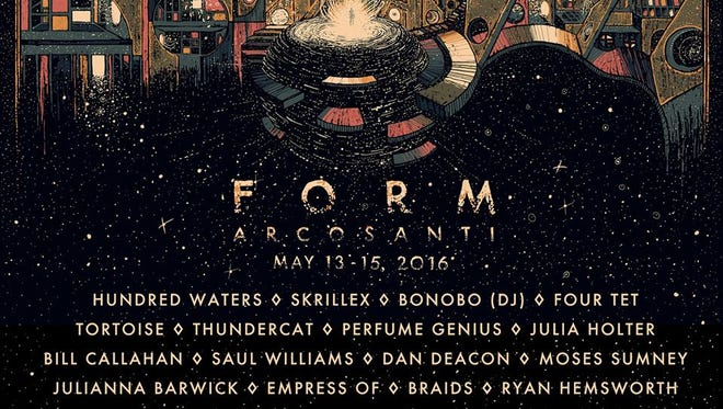 FORM Arcosanti returns on May 13-15, featuring Skrillex, Four Tet, Hundred Waters and others.