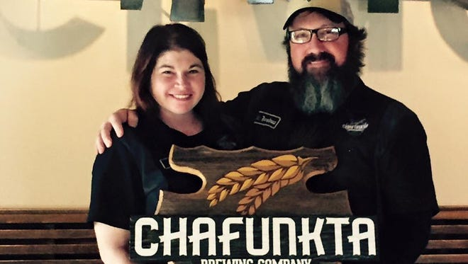 Jamie and Josh Erickson, owners of Chafunkta Brewing.