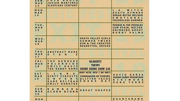 The lineup and schedule of the Exit 19 Music Festival