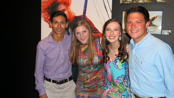 "Hendrik Mason, Demoiselle Deb honorees at ""A Night With the Debs!"" Brooke Shemwell and  Courtney Ann Prestwood and Yy Oakes. The party was June18 at artspace."