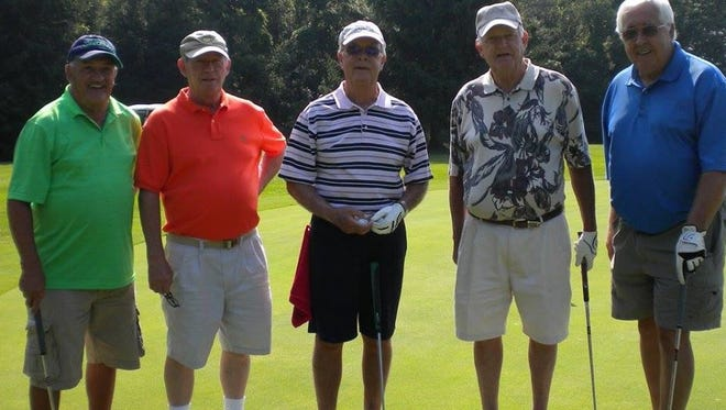 Golfers at a recent Groton Indians Football Tournament.