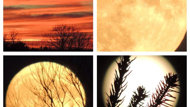 Views of the Nov. 14 supermoon.