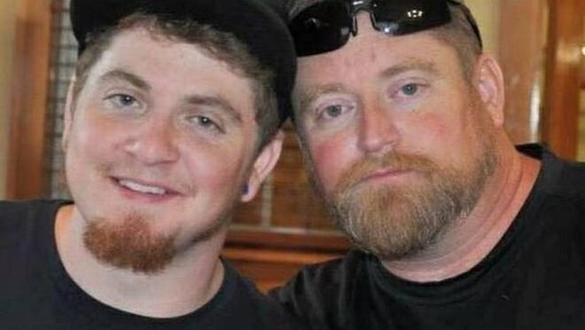 Rep. Eric Bedingfield, right, has been appointed as the head of a study panel that will look into how to curb the state's rising use of opioids. Bedingfield lost his son, Joshua, left, to an overdose of fentanyl in 2016.