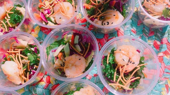 This shrimp slaw is a great showcase for Gulf shrimp.