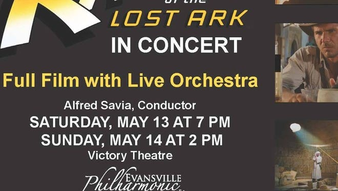 """The Evansville Philharmonic Orchestra will present """"Raiders of the Lost Ark"""" on Saturday and Sunday."""