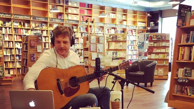 "Singer-songwriter Korby Lenker records his song ""Book Nerd"" at Parnassus Books."