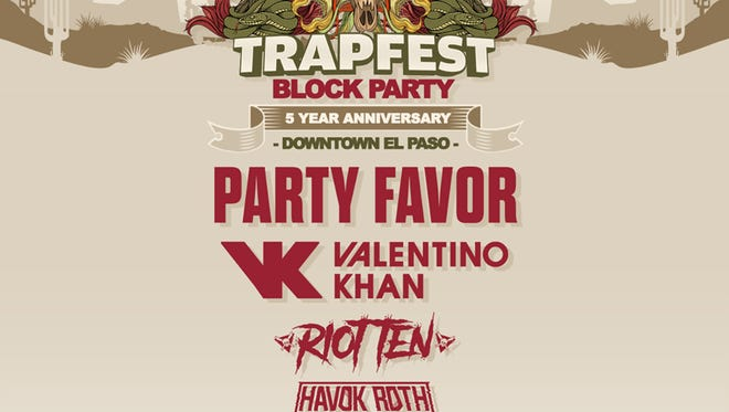 The lineup for the Trapfest Block Party was announced Monday.