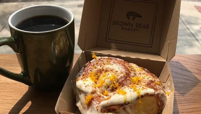 The cinnamon roll from Brown Bear Bakery.