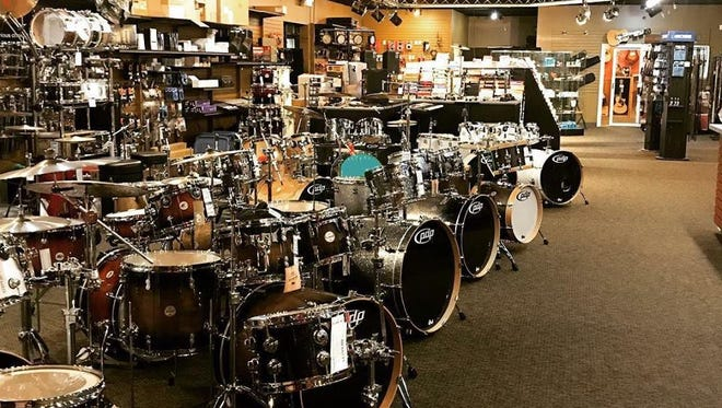 An interior photo of Sioux Falls Music, which is scheduled to close next month.