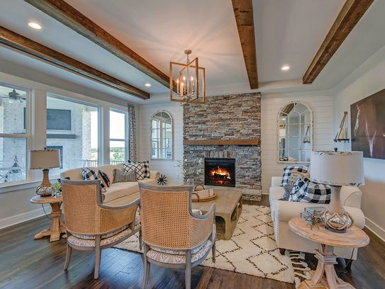 The Colton's family room creates a cozy area to gather