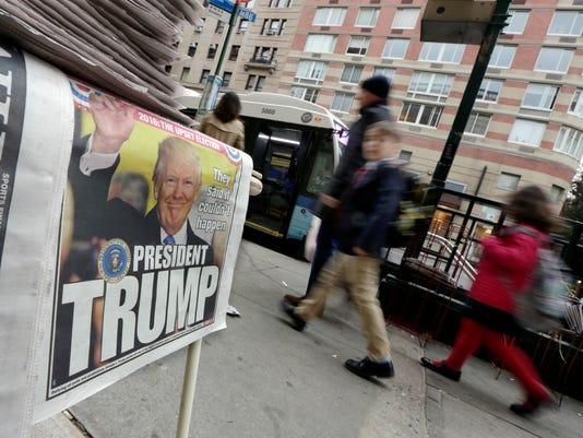 AP 2016 ELECTION WORLD REACTION A ELN USA NY