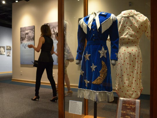 "The ""Loretta Lynn: Blue Kentucky Girl"" exhibit opens Friday, August 25, 2017 at the Country Music Hall of Fame in downtown Nashville. Items from her extensive recording career are on display including several of the dresses she wore on stage."