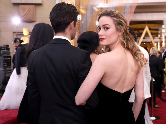 Brie Larson arrives at the Oscars.