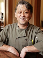 Chef Nobuo Fukuda, in his restaurant, Nobuo at Teeter