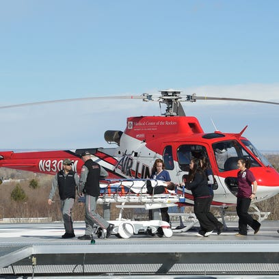 Poudre Valley Hospital staff transport a and employee
