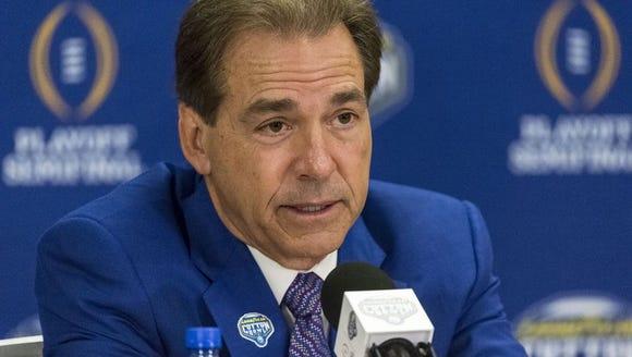 Nick Saban talks about Alabama facing Michigan State