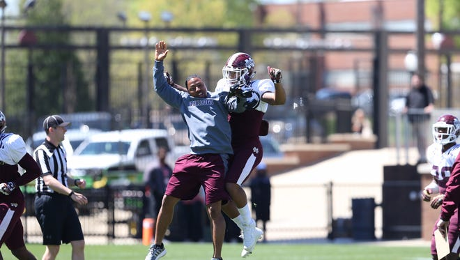 Mississippi State safety Brandon Bryant had three interceptions during Saturday's scrimmage.