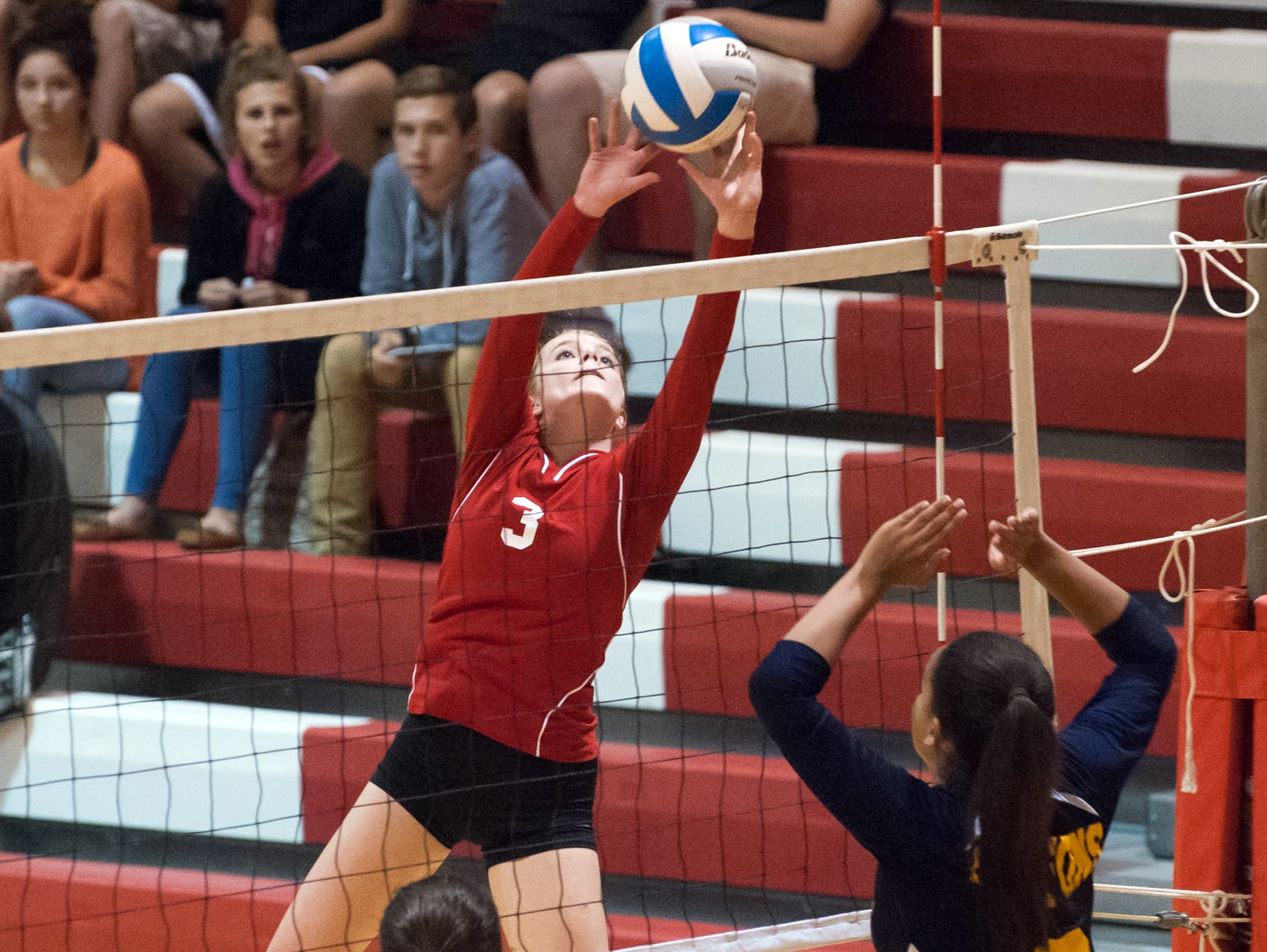 St. Philip's Abby McKinzie during district action on Tuesday.