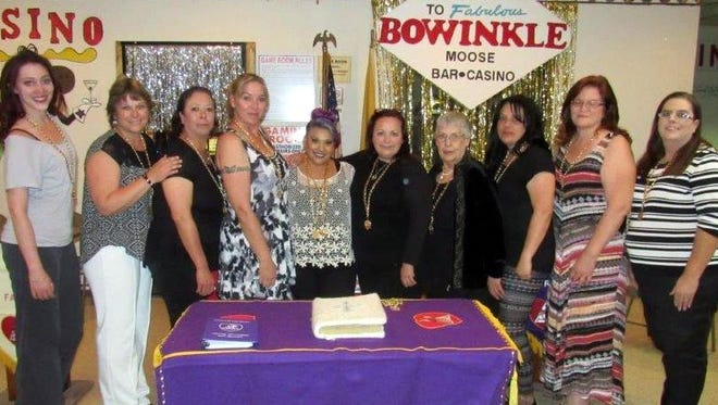 The new officers and chairman for the Women of the Moose, Lodge 2088, Deming, N.M., in 2016-17 are, from left, Heather Seats, Secretary/Treasurer; Doris Lancaster, Junior Graduate Regent; Delia Marcak, Activity and  Sports; Tawnie Pacheco, Senior Regent; Miranda Reyes, Mooseheart/Moosehaven; Cat Gutierrez, Community Service; Betty Babcock, Membership Retention; Delilah Allison, Guide; Cynthia Hunt, Recorder; and Dena Holmes, Junior Regent. The Deming Moose Lodge 2088 is located at 119 N. Gold St. For more information, call 575-546-9137.