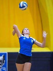 Kellogg Community College sophomore outside hitter