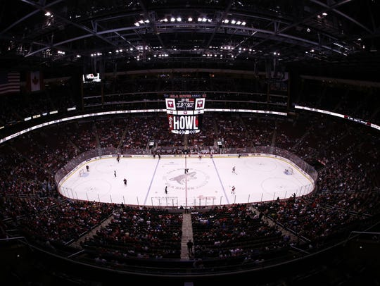 Gila River Arena, home of Arizona Coyotes, on Jan.