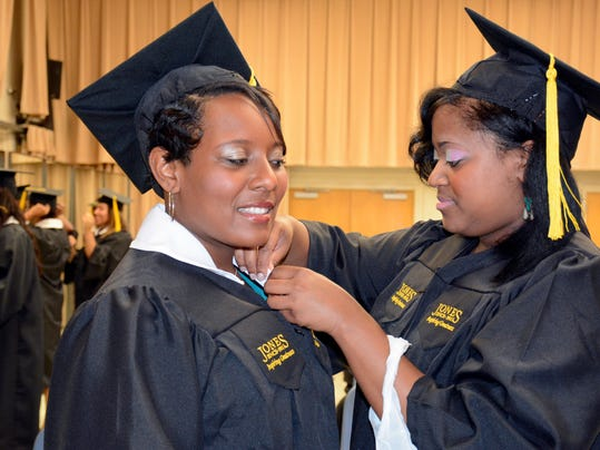 Kierra Oatis and Tara Rice preparing for graduation.jpg