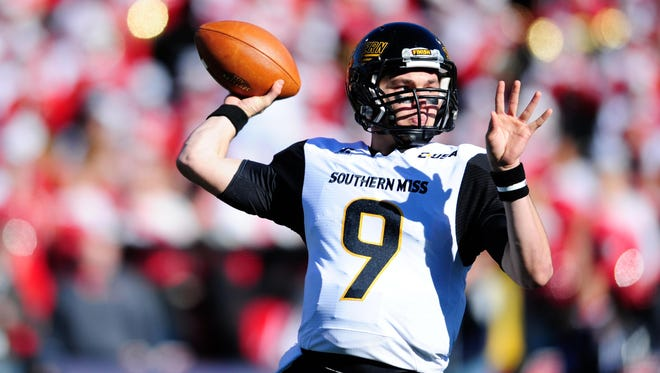 Southern Miss quarterback Nick Mullens spent last week honing his skills at the Manning Passing Academy.