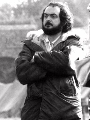 """Film director Stanley Kubrick is seen in 1975 during production of of the film """"Barry Lyndon""""."""