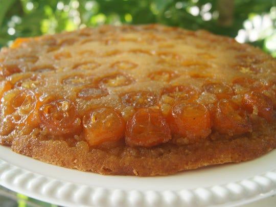 Florida Kumquat Cake is an ideal dessert to serve during the holidays, coinciding with the Kumquat season.