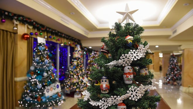 Christmas decorations were setup for public viewing as part of the Magof Nochebuena Peace Festival 2017 at the Government House on Dec. 2, 2017.