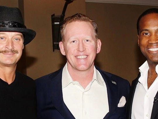 From left, Kid Rock, Rob O'Neill and John James at