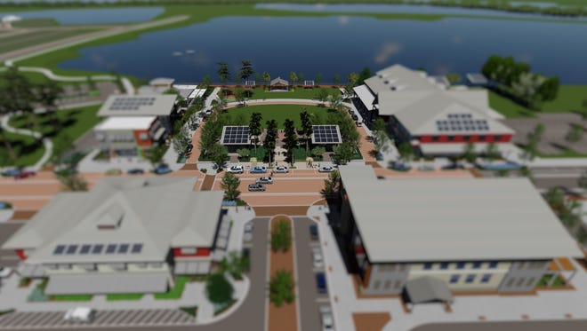 Rendering of Downtown Babcock Ranch development