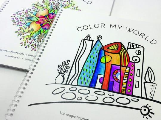 Karen Larson of Color My World in Lathtrup Village creates adult coloring books.