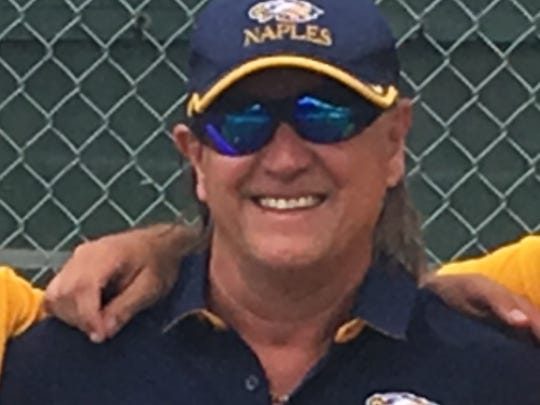 Naples High School boys tennis coach Tony Kamen